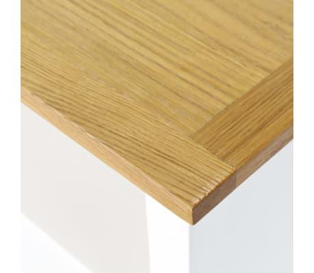 "vidaXL 5-Tier Bookcase 23.6""x8.9""x55.1"" Solid Oak Wood[4/5]"