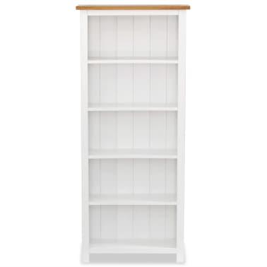 "vidaXL 5-Tier Bookcase 23.6""x8.9""x55.1"" Solid Oak Wood[2/5]"