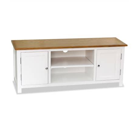 vidaXL Mueble para el televisor madera maciza de roble 120x35x48 cm