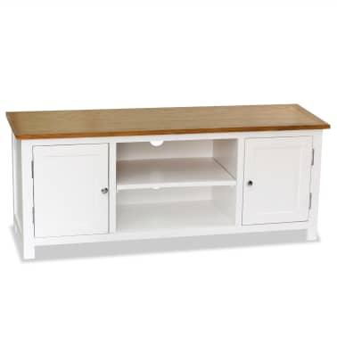 vidaXL Mueble para el televisor madera maciza de roble 120x35x48 cm[1/6]