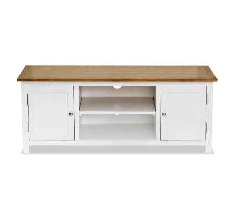 vidaXL Mueble para el televisor madera maciza de roble 120x35x48 cm[3/6]