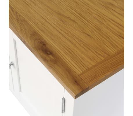 vidaXL Mueble para el televisor madera maciza de roble 120x35x48 cm[5/6]