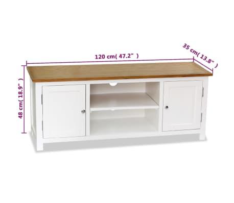 vidaXL Mueble para el televisor madera maciza de roble 120x35x48 cm[6/6]