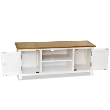 vidaXL Mueble para el televisor madera maciza de roble 120x35x48 cm[2/6]