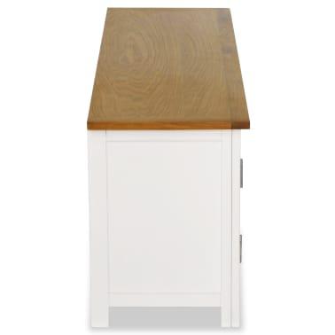 vidaXL Mueble para el televisor madera maciza de roble 120x35x48 cm[4/6]
