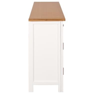 vidaXL Buffet 110 x 33,5 x 70 cm Bois de chêne massif[4/10]