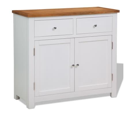 "vidaXL Sideboard 35.4""x13.2""x32.7"" Solid Oak Wood"