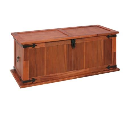 vidaXL Cufăr de depozitare, 90 x 45 x 40 cm, lemn masiv de salcâm