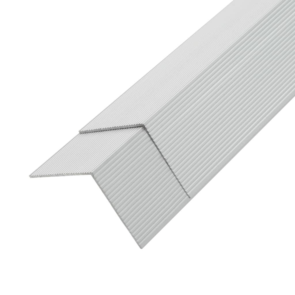Afbeelding van vidaXL 5 st Terras hoekplinten 170 cm aluminium zilverkleurig
