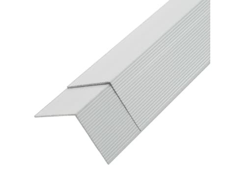 vidaXL Kampiniai grin. dang. apvadai, 5vnt., sidab. sp., 170cm, alium.[2/8]