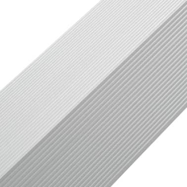 vidaXL Kampiniai grin. dang. apvadai, 5vnt., sidab. sp., 170cm, alium.[6/8]