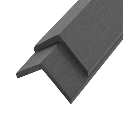 vidaXL Kampiniai grin. dang. WPC apvadai, 5vnt., 170cm, pilkos sp.[2/8]