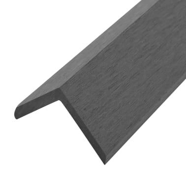 vidaXL Kampiniai grin. dang. WPC apvadai, 5vnt., 170cm, pilkos sp.[4/8]