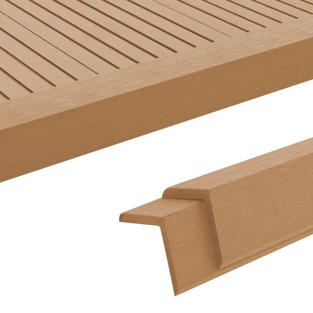 vidaXL Terasové rohové lišty z dřevoplastu 5 ks 170 cm odstín teak