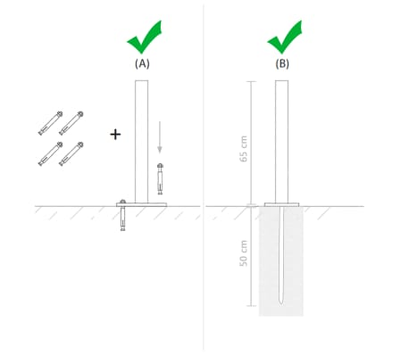 vidaXL Panou de gard cu 2 stâlpi, maro, 180 x 180 cm, WPC[15/16]