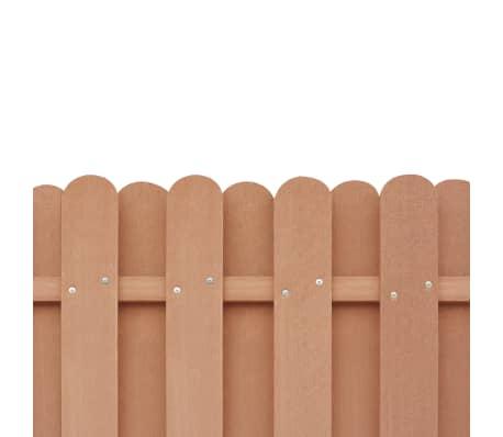 vidaXL Panou de gard cu 2 stâlpi, maro, 180 x 180 cm, WPC[4/16]