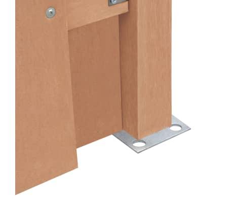 vidaXL Panou de gard cu 2 stâlpi, maro, 180 x 180 cm, WPC[5/16]
