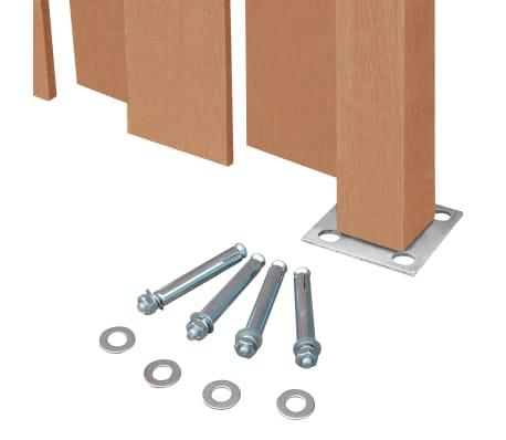 vidaXL Panou de gard cu 2 stâlpi, maro, 180 x 180 cm, WPC[6/16]