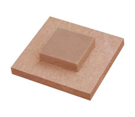 vidaXL Panou de gard cu 2 stâlpi, maro, 180x(165-180) cm, WPC[13/16]