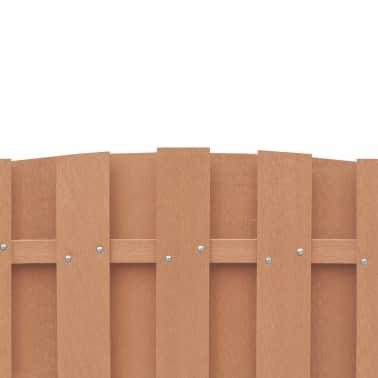 vidaXL Panou de gard cu 2 stâlpi, maro, 180x(165-180) cm, WPC[4/16]