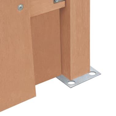 vidaXL Panou de gard cu 2 stâlpi, maro, 180x(165-180) cm, WPC[5/16]