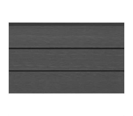 vidaXL Staketbrädor reserv WPC 7 st 170 cm grå[3/8]