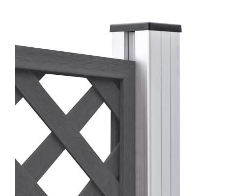 vidaXL Staketbrädor reserv WPC 7 st 170 cm grå[7/8]