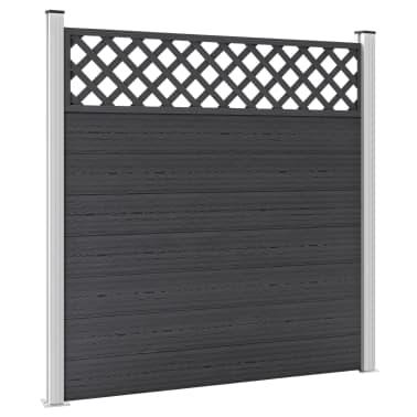 vidaXL Staketbrädor reserv WPC 7 st 170 cm grå[5/8]