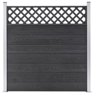 vidaXL Staketbrädor reserv WPC 7 st 170 cm grå[6/8]