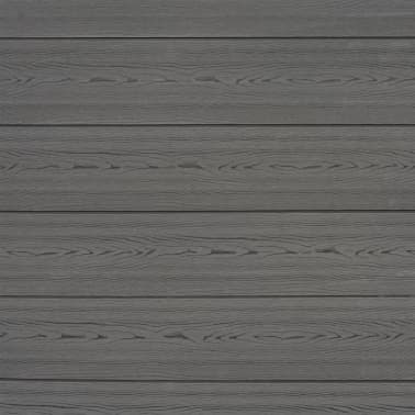 vidaXL Staketbrädor reserv WPC 7 st 170 cm grå[8/8]