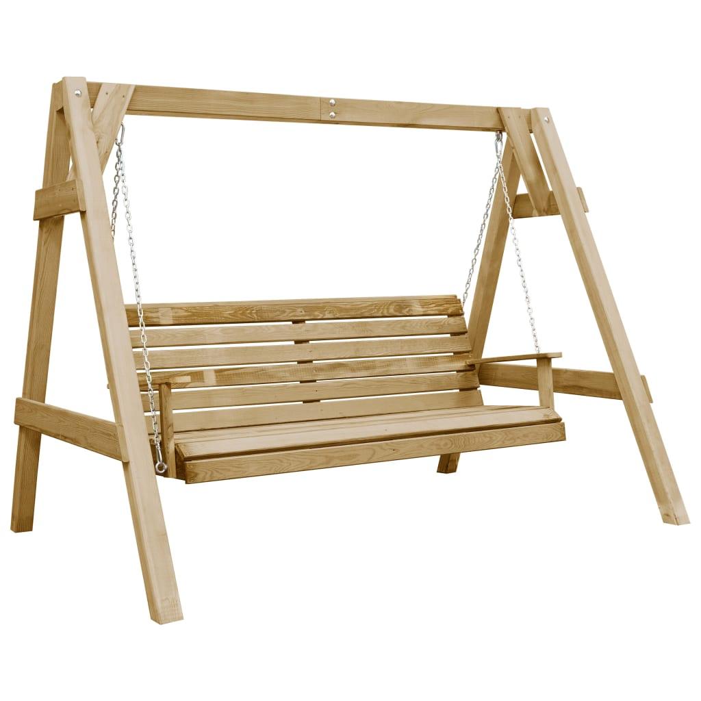 vidaXL Balansoar de grădină, 205 x 150 x 157 cm, lemn de pin tratat imagine vidaxl.ro