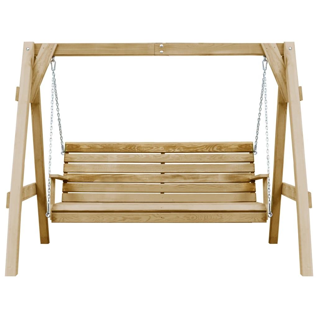 vidaXL Tuinschommelstoel 205x150x157 cm geimpregneerd grenenhout