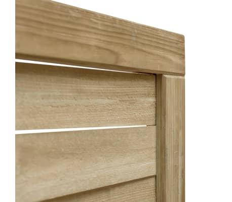 vidaXL Puerta de valla madera de pino impregnada FSC 100x75 cm verde[3/4]
