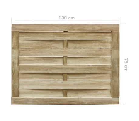vidaXL Furtka ogrodowa, impregnowana sosna FSC, 100 x 75 cm, zielona[4/4]