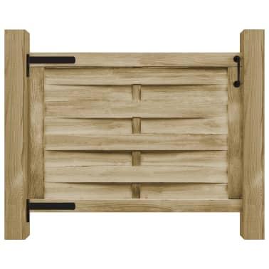 vidaXL Puerta de valla madera de pino impregnada FSC 100x75 cm verde[2/4]