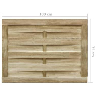 vidaXL Puerta de valla madera de pino impregnada FSC 100x75 cm verde[4/4]
