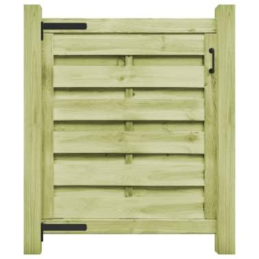 vidaXL Puerta de valla madera de pino impregnada FSC 100x100 cm verde[1/4]
