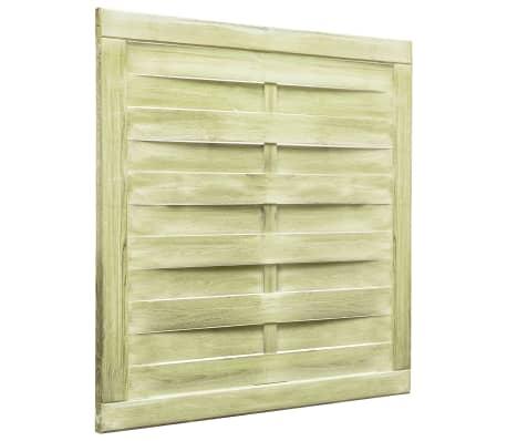 vidaXL Puerta de valla madera de pino impregnada FSC 100x100 cm verde[2/4]