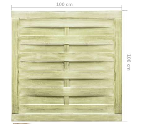 vidaXL Portillon Bois de pin imprégné FSC 100 x 100 cm Vert[4/4]