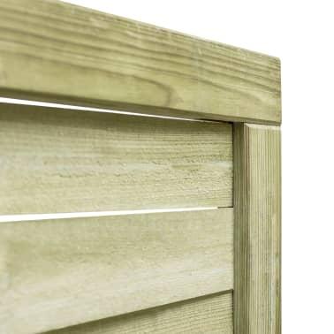 vidaXL Portillon Bois de pin imprégné FSC 100 x 100 cm Vert[3/4]