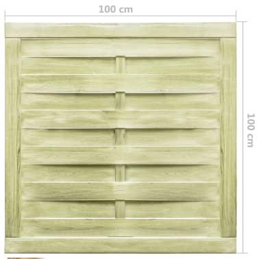 vidaXL Puerta de valla madera de pino impregnada FSC 100x100 cm verde[4/4]