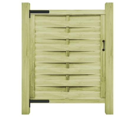 vidaXL Portillon Bois de pin imprégné 100 x 125 cm Vert