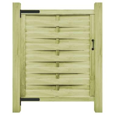 vidaXL Puerta de valla madera de pino impregnada FSC 100x125 cm verde[1/4]