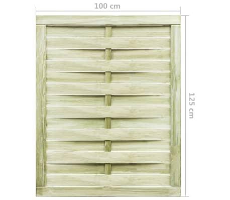 vidaXL Puerta de valla madera de pino impregnada FSC 100x125 cm verde[4/4]