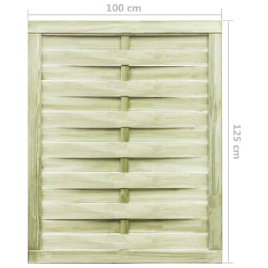 vidaXL Trädgårdsgrind FSC impregnerad furu 100x125 cm grön[4/4]