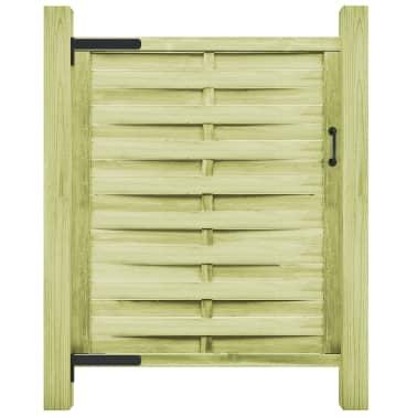 vidaXL Puerta de valla madera de pino impregnada FSC 100x150 cm verde[1/4]