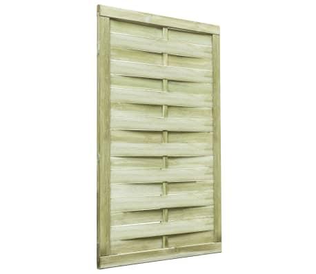 vidaXL Puerta de valla madera de pino impregnada FSC 100x150 cm verde[2/4]