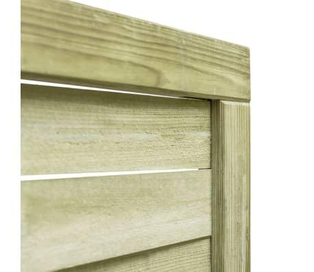 vidaXL Puerta de valla madera de pino impregnada FSC 100x150 cm verde[3/4]