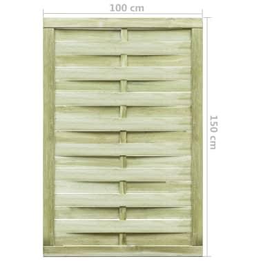 vidaXL Puerta de valla madera de pino impregnada FSC 100x150 cm verde[4/4]