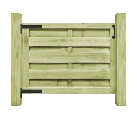 vidaXL Cancello da Giardino in Legno Impregnato 100x75 cm Verde